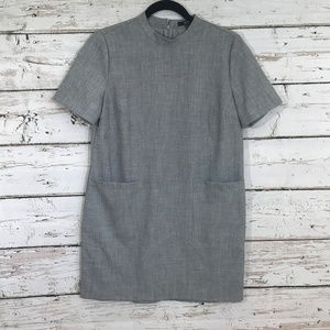 Forever 21 Gray Mock Neck Dress